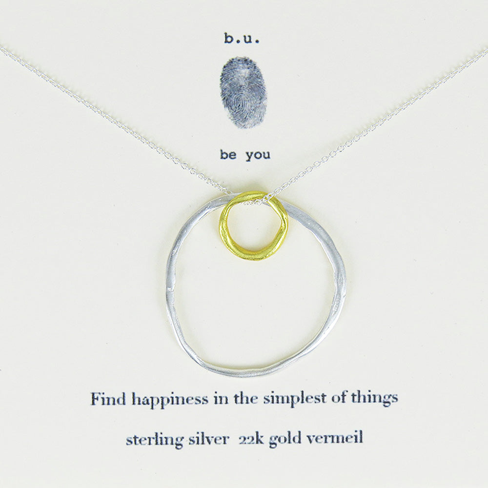 FIND HAPPINESS IN THE SIMPLEST THINGS NECKLACE