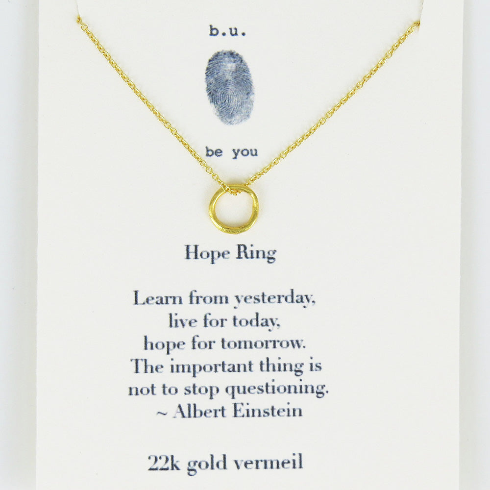 HOPE RING VERMEIL NECKLACE