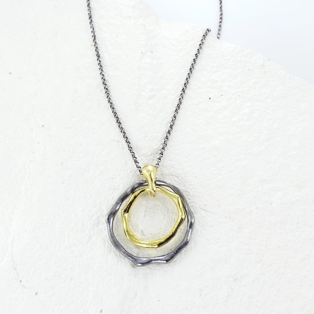 MOLTEN METAL RING NECKLACE