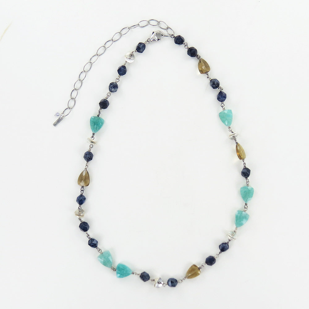 AMAZONITE MIX STONE NECKLACE