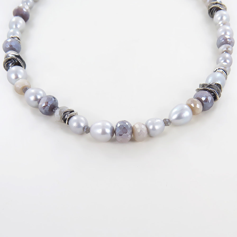 TWILIGHT LOVELY GREY MIX NECKLACE