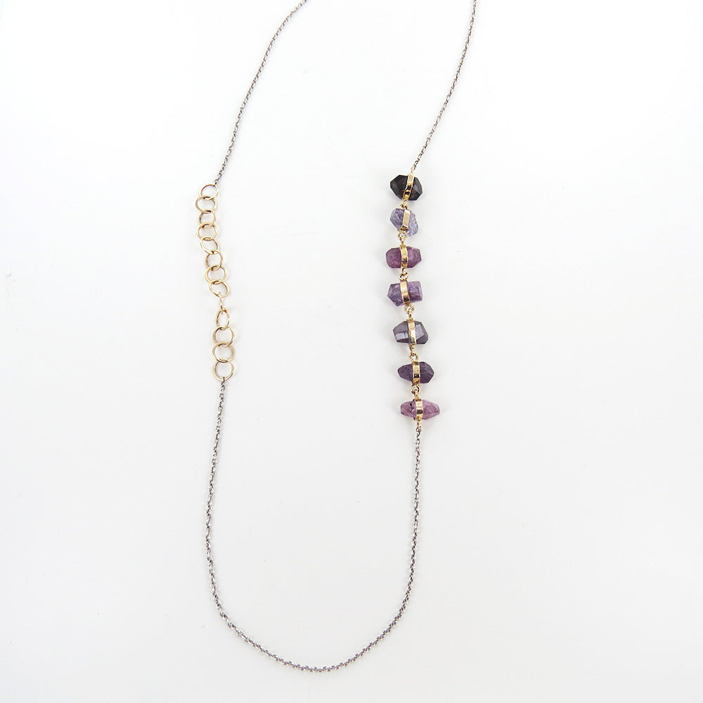 ONE OF A KIND SPINEL AND LOOP NECKLACE