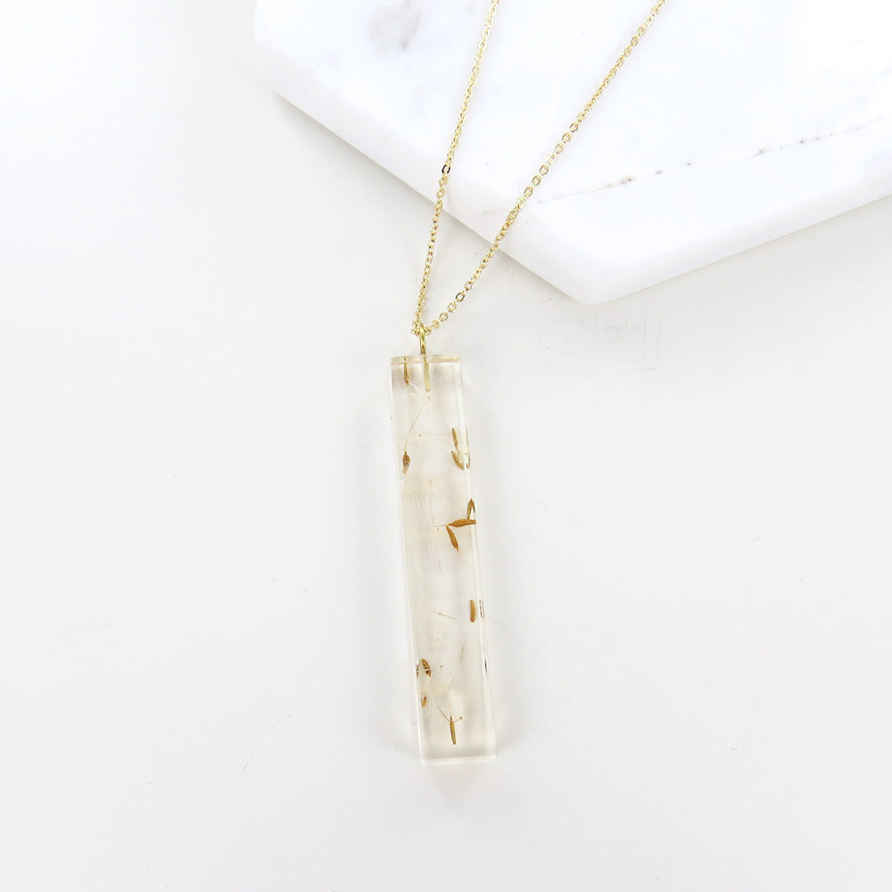 DANDELION RESIN MEDIUM PALITO PENDANT NECKLACE