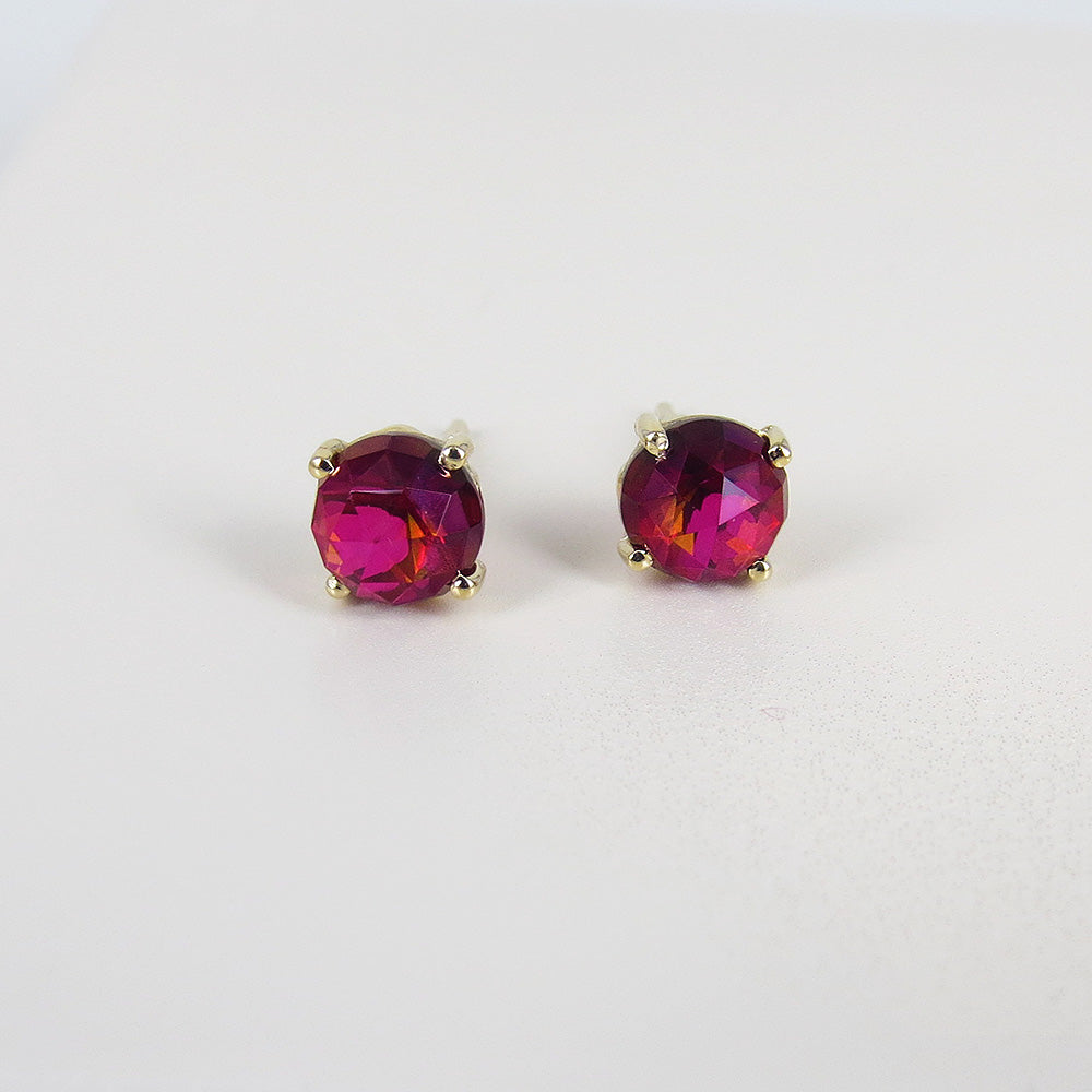 CRIMSON TOPAZ POST EARRING