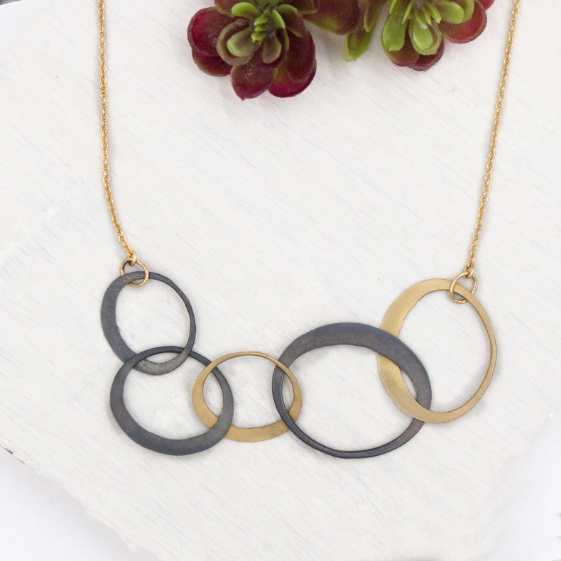 ECO TWO TONE FIVE LINK NECKLACE