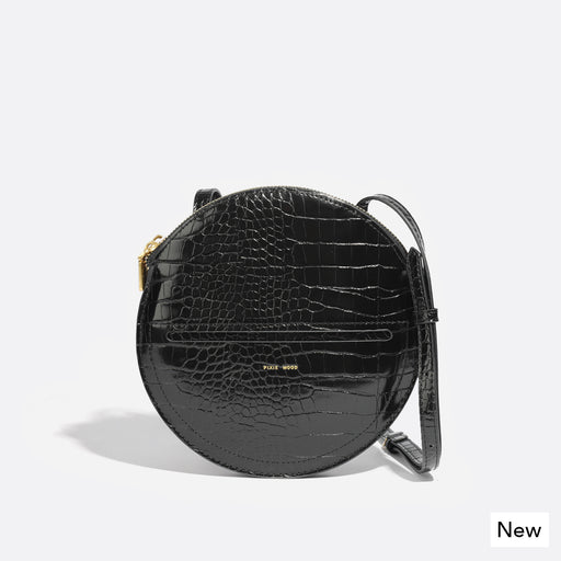 PHOEBE CROSSBODY  - BLACK CROC