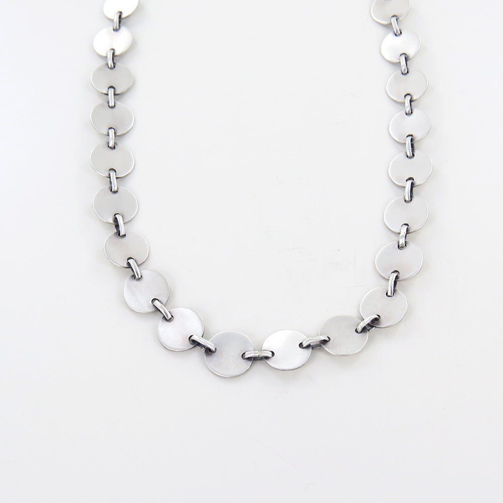 ROUND DISC LINK CHAIN NECKLACE