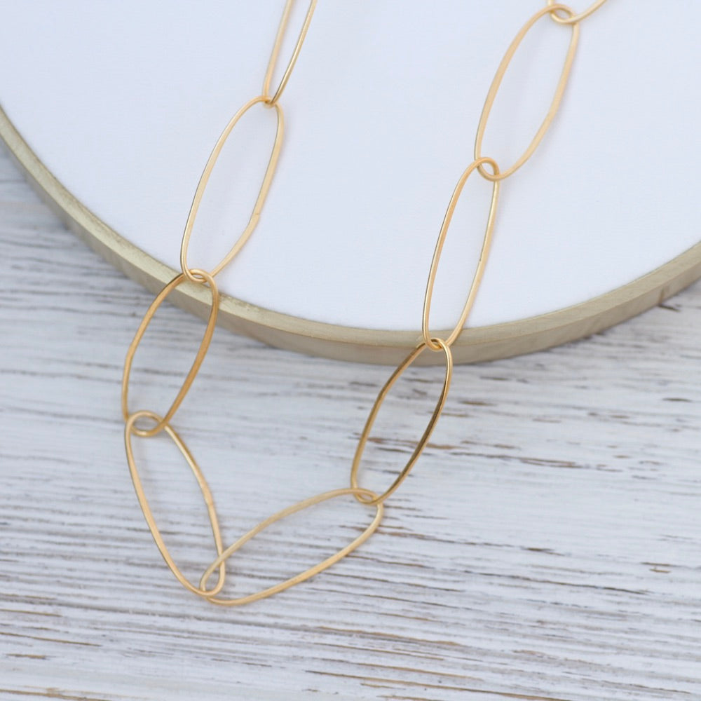 Handmade Large oval Link Chain - Gold Plated