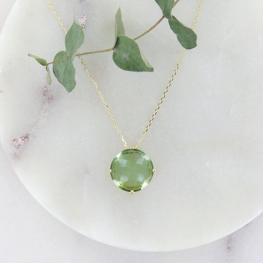 LARGE GREEN ENVY NECKLACE