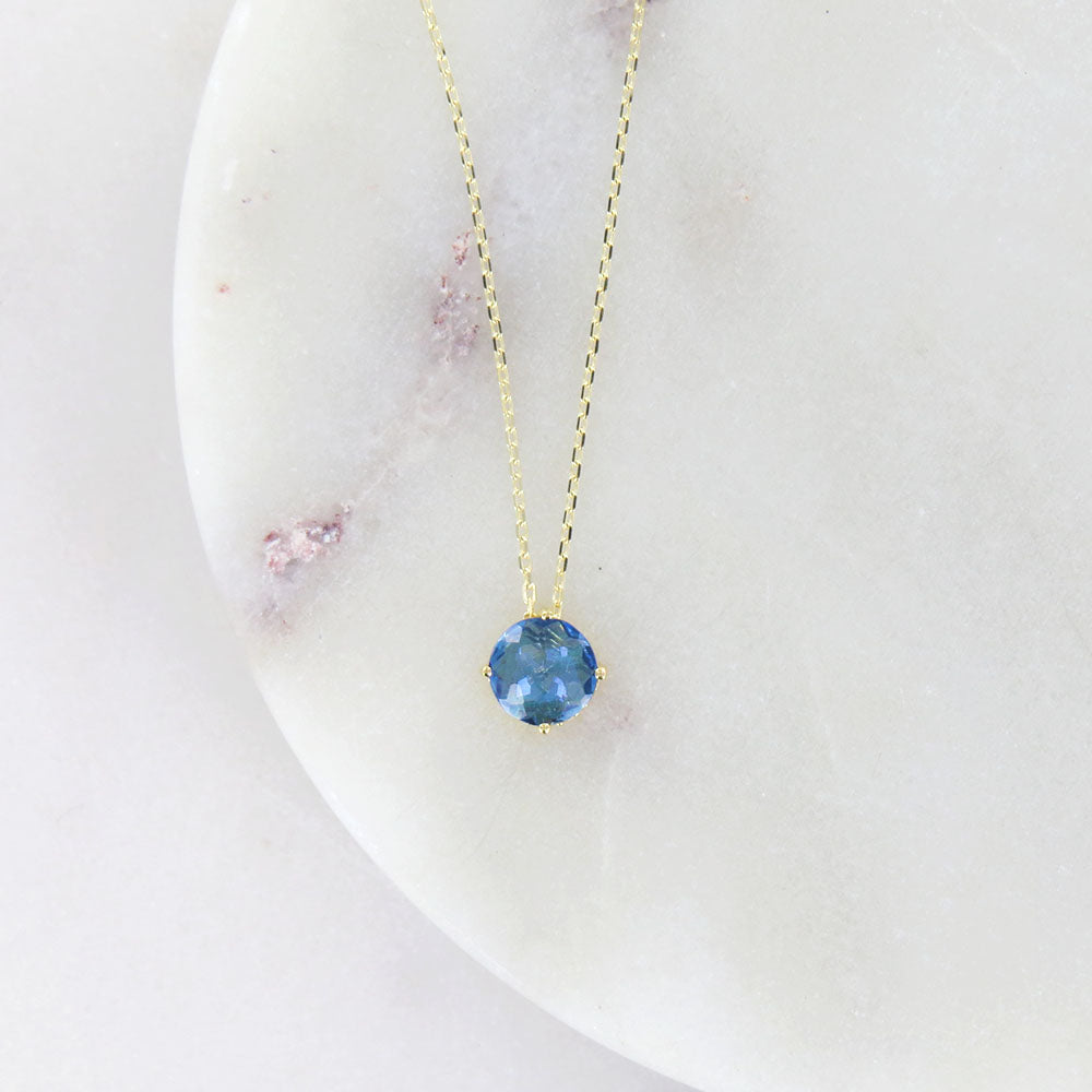 ENGLISH BLUE TOPAZ NECKLACE