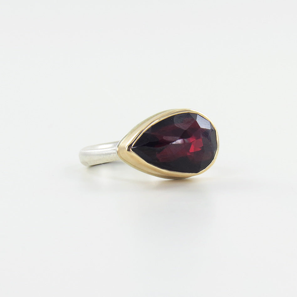 JAMIE JOSEPH TEARDROP INVERTED GARNET