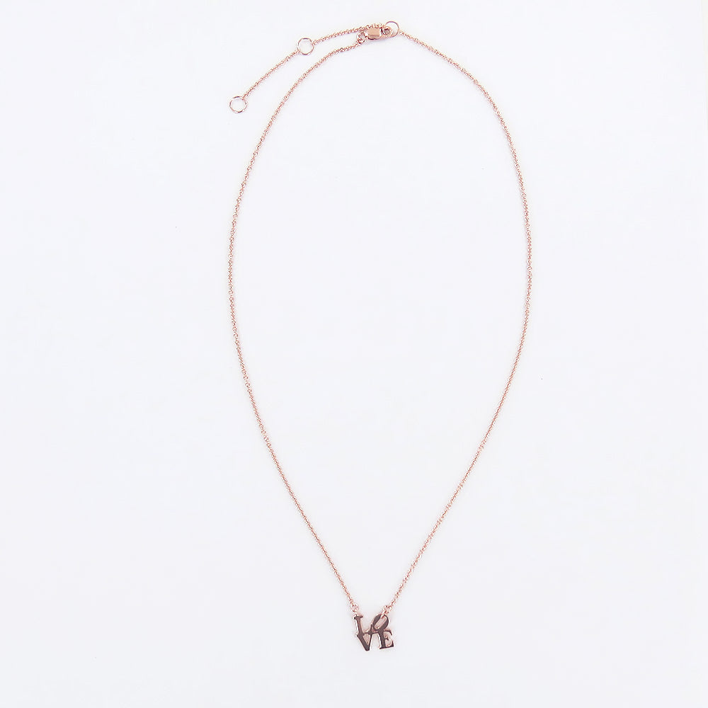 ROSE GOLD  MINI LOVE SCULPTURE NECKLACE