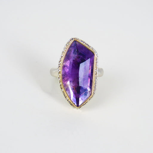 JAMIE JOSEPH FACETED AMETHYST RING