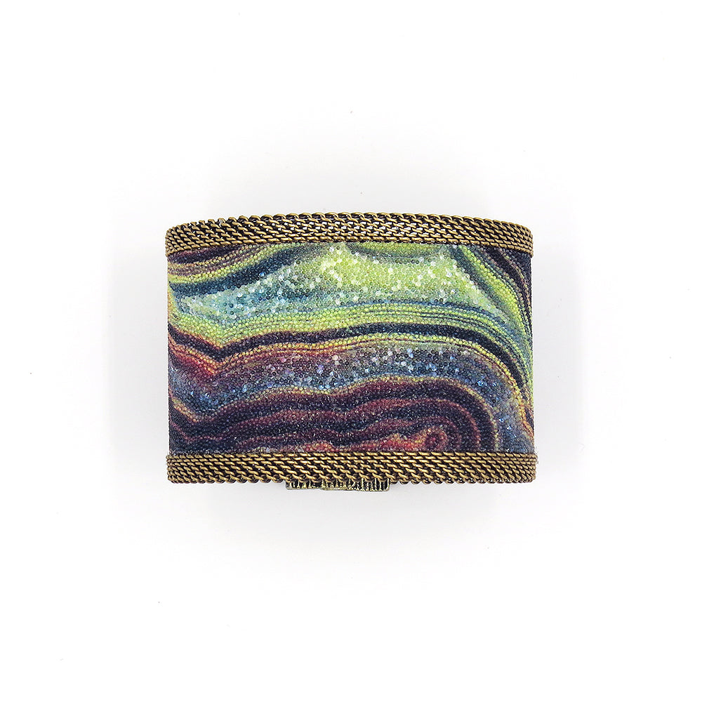 RAINBOW AGATE WIDE CUFF