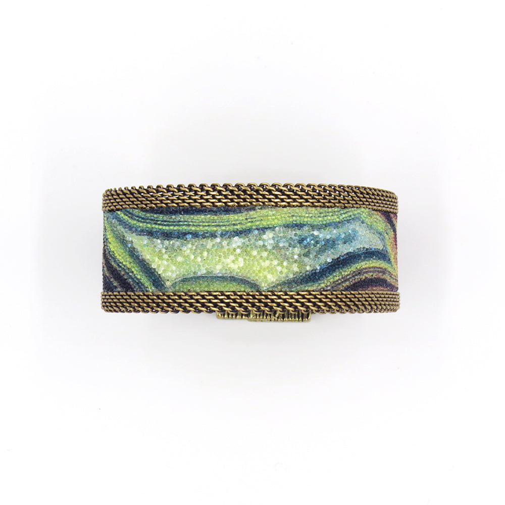 RAINBOW AGATE NARROW CUFF