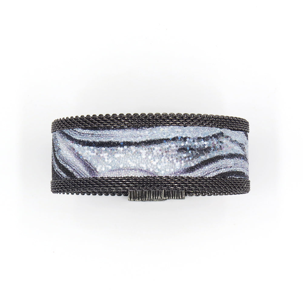 BLACK AGATE NARROW CUFF