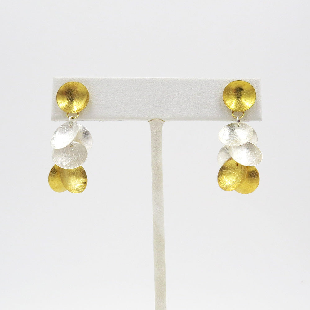 SILVER AND GOLD GRAPE CLUSTER DANGLES