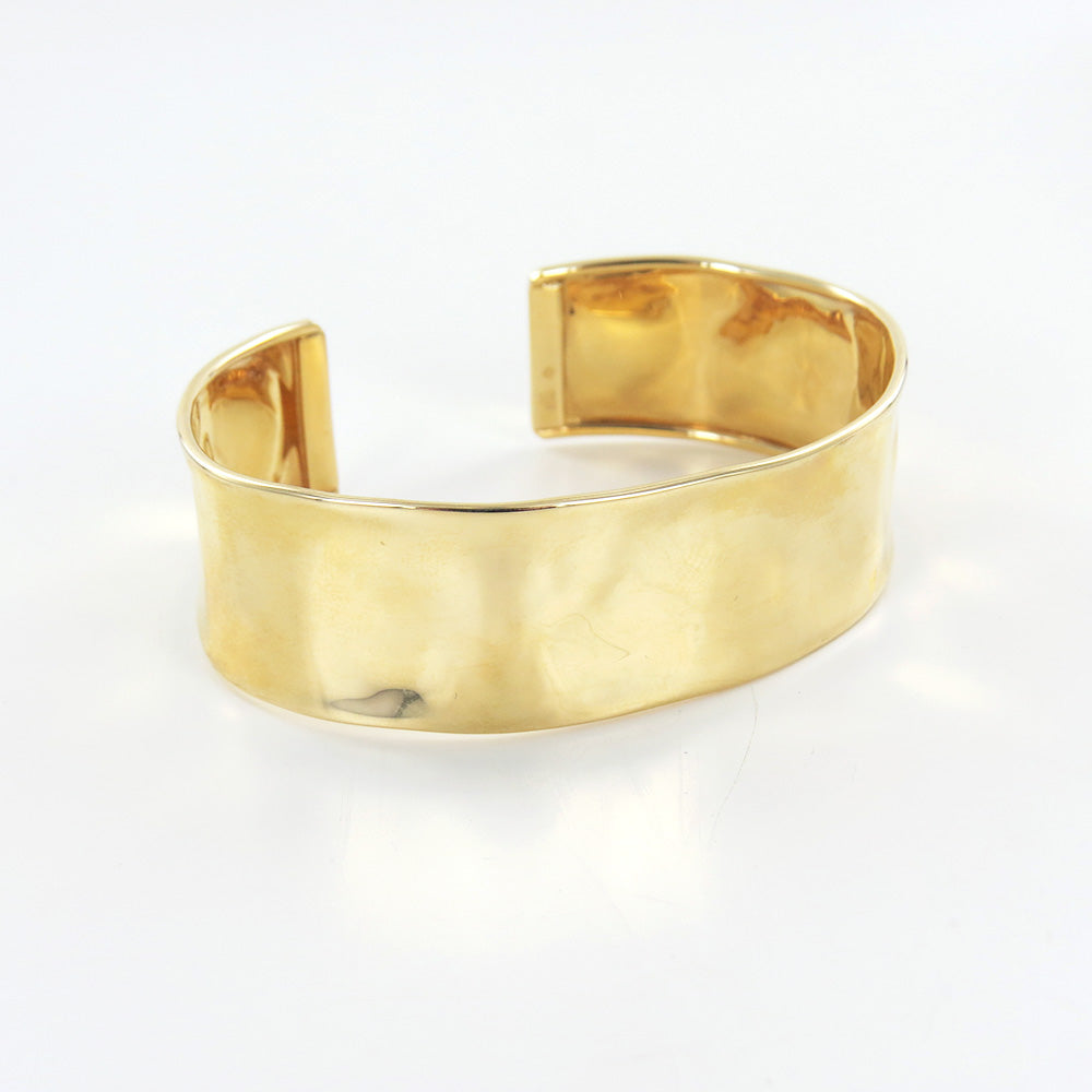 14K 19MM HAMMERED CUFF