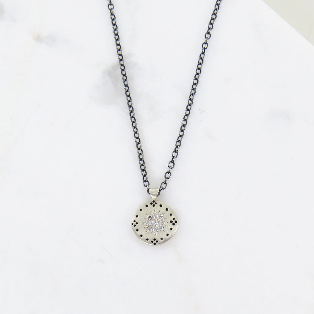CLUSTER PENDANT ALL DIAMOND