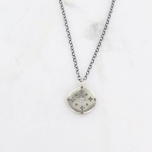 DIAMOND NEW MOON PENDANT