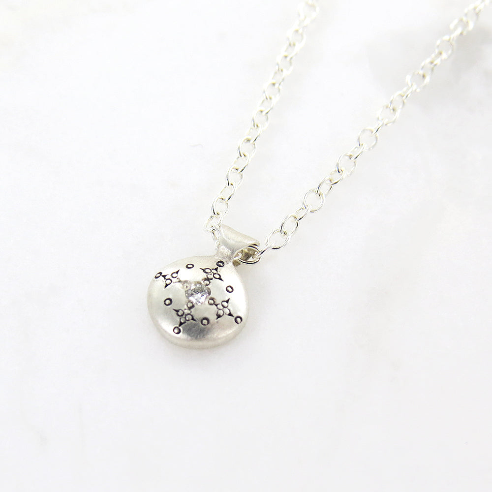 SILVER LIGHTS CHARM PENDANT IN DIAMOND