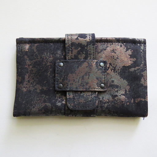 SOFIA WALLET IN OXIDIZED ZINC TRACEY TANNER HANDMADE LEATHER