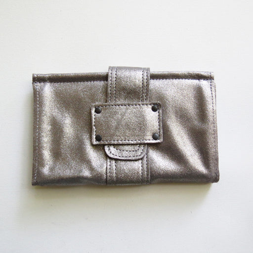 SOFIA WALLET IN SPARKLE SMOKE TRACEY TANNER HANDMADE LEATHER