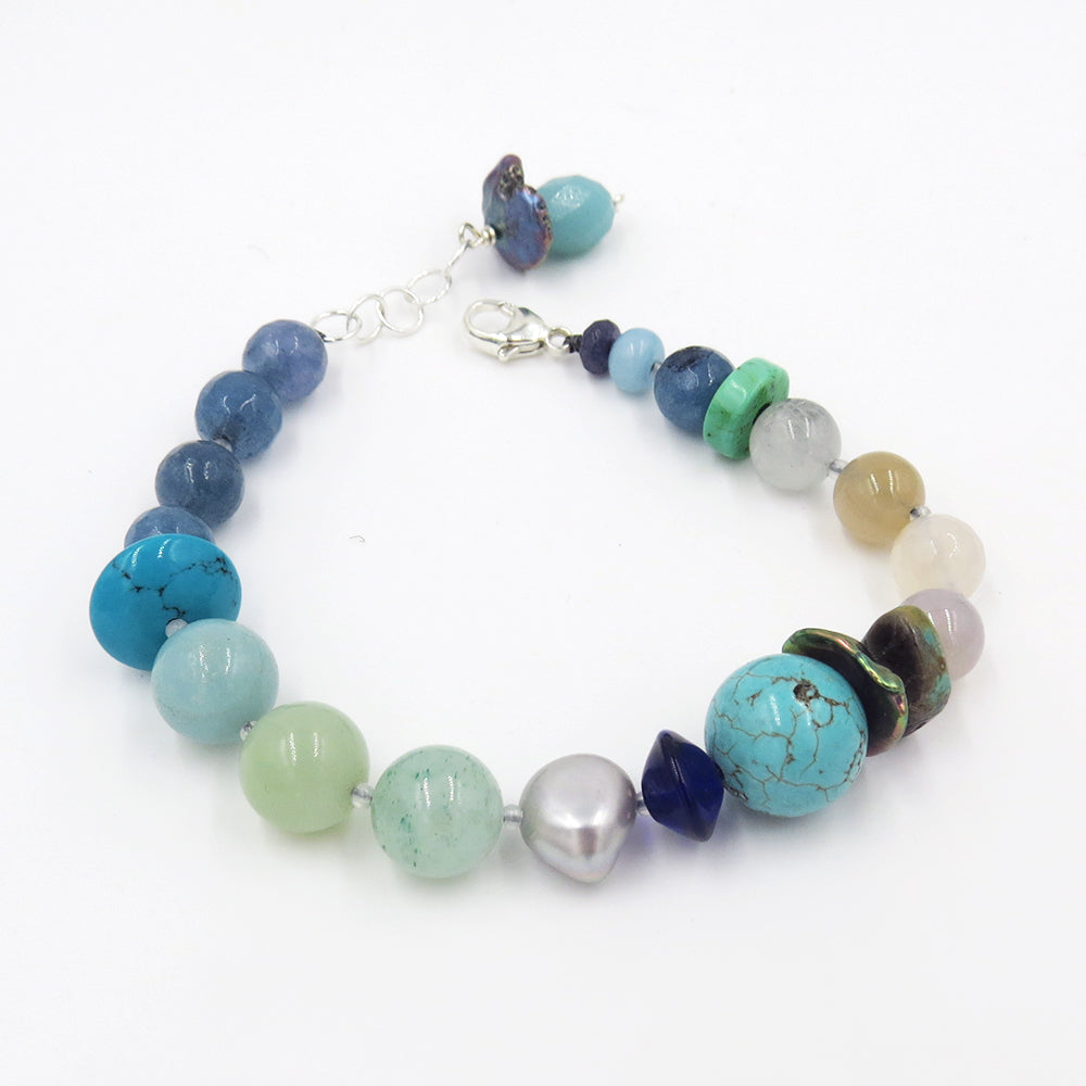 TURQUOISE AND JADE MIX BRACELET