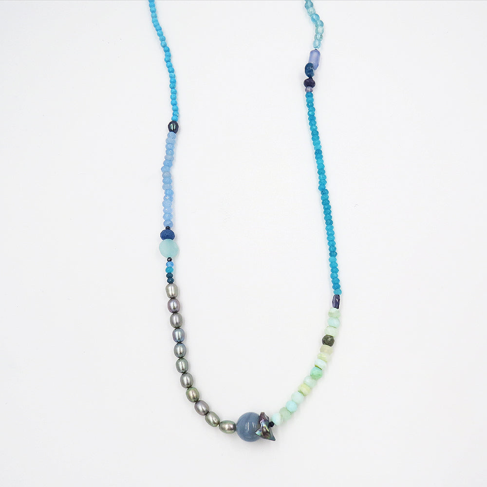 TURQUOISE MIX LONG NECKLACE