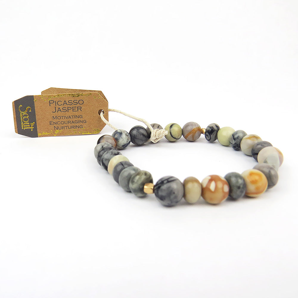 Scout Picasso Jasper Stone Stacking Bracelet