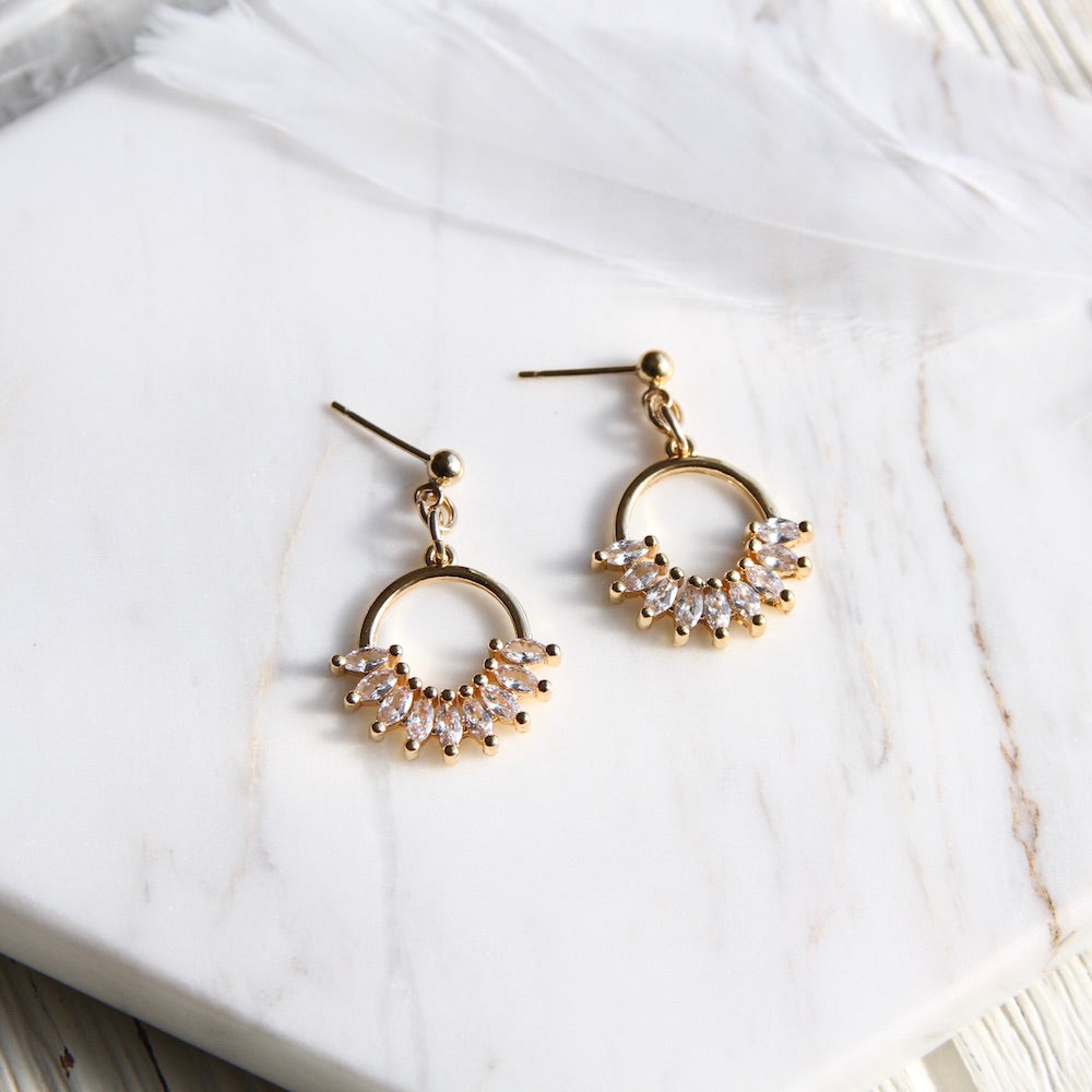 Cubic Fan Earring