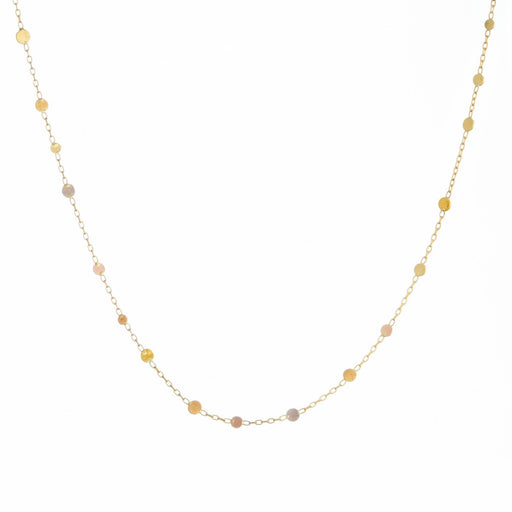 Yellow Gold & Rainbow Gold Scattered Rainbow Dots Necklace