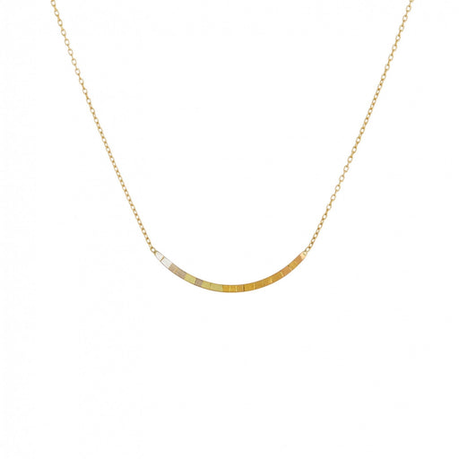 RAINBOW GOLD ARC PENDANT NECKLACE