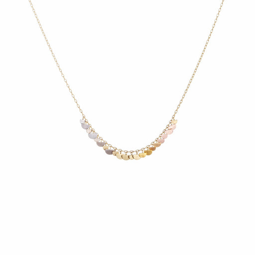 Yellow Gold & Rainbow Gold Sunrise Arc Necklace