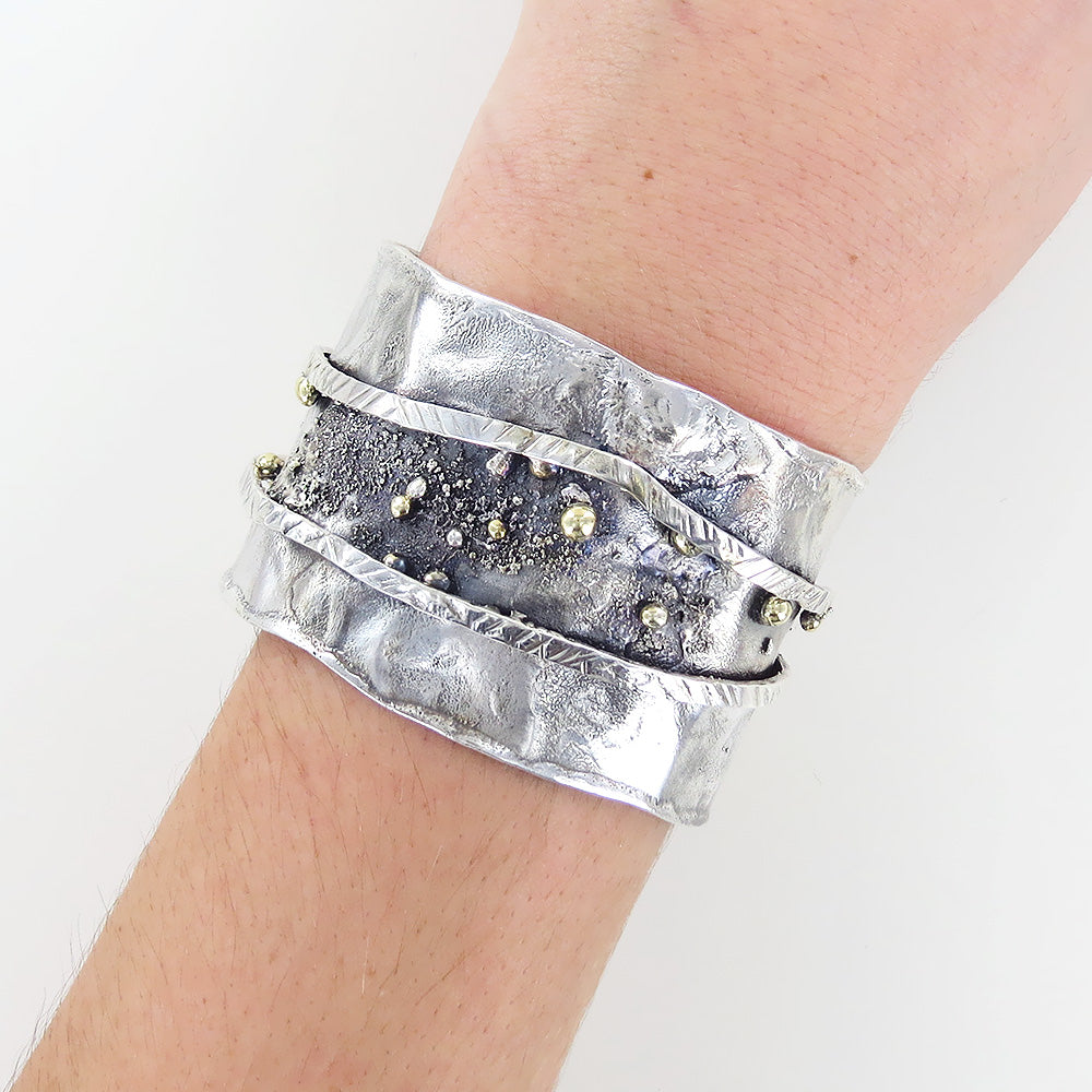 RETICULATED CUFF BRACELET