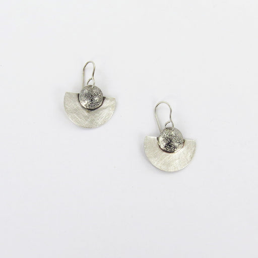 RETICULATED SILVER EARRING