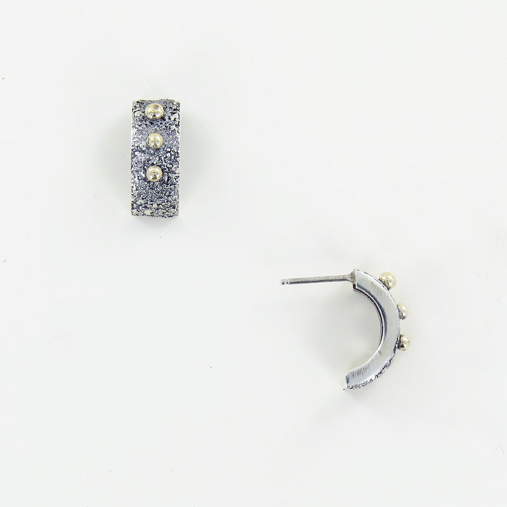 STERLING SILVER AND 14K GOLD ACCENTS STUD