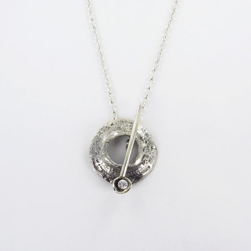 RETICULATED SILVER PULL THROUGH PENDANT