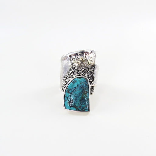RETICULATED RING WITH TURQUOISE