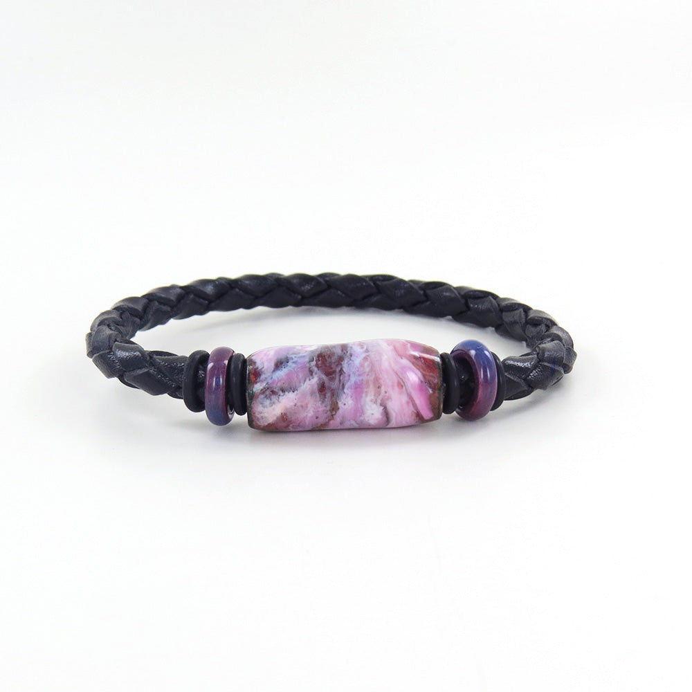WILD PLUM LEATHER BRACELET