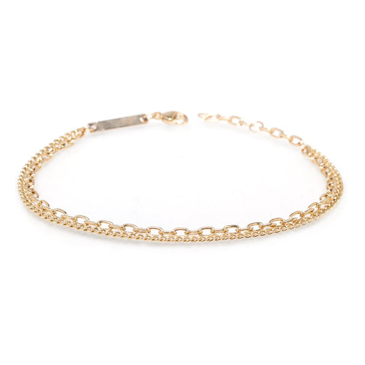 14K GOLD DOUBLE CHAIN BRACELET