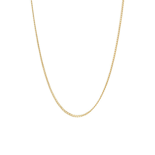 14k Gold Extra Small Curb Chain Necklace