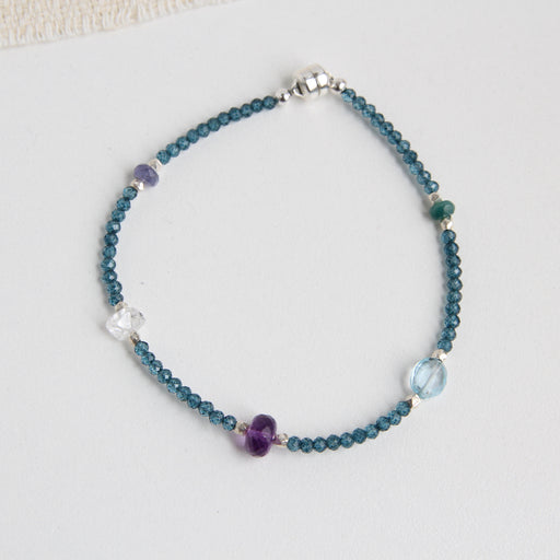 Mixed Blues & Purple Bracelet