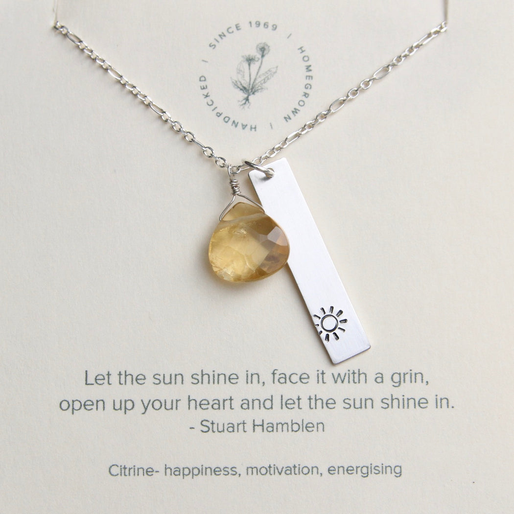 Let the Sun Shine In Necklace