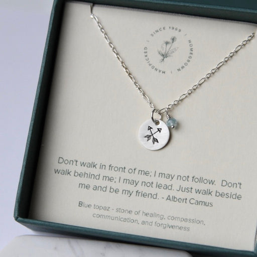 Albert Camus Quote Friend Necklace