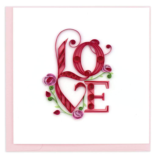 Large Love Floral Card