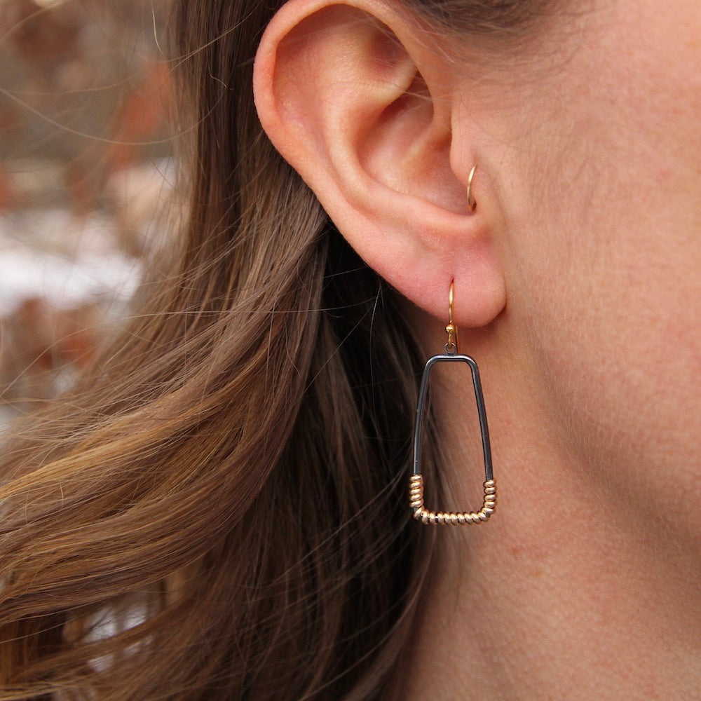 Small Wrapped Trap Earrings