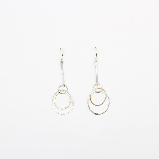 Double Rings On Stick Earring