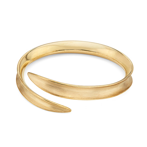 Jani Bangle - Gold Plated Brass