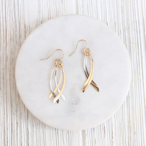 Gold Filled Double Swing By-Pass Earring